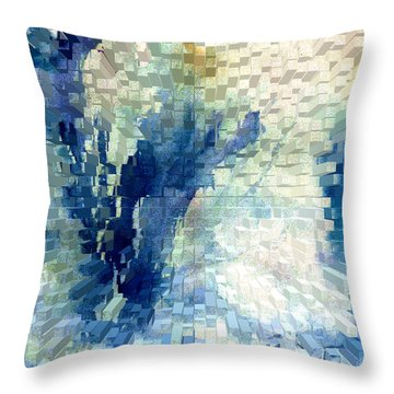 Extrude Throw Pillow by Steve Karol