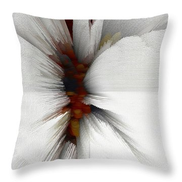 Throw Pillow featuring the digital art Sculptural Series Painting 51.072110windblscext1590l10110l by Kris Haas