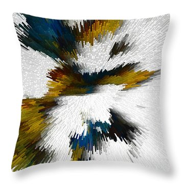 Throw Pillow featuring the digital art Sculptural Series Digital Painting 612.102310extrusion by Kris Haas