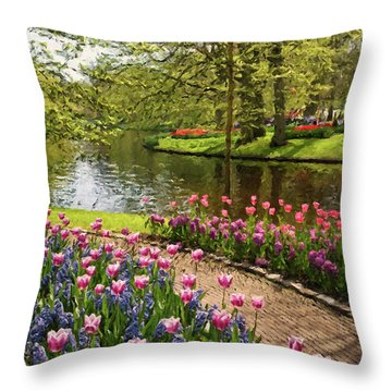 Throw Pillow featuring the painting Exuberance  by Rosario Piazza