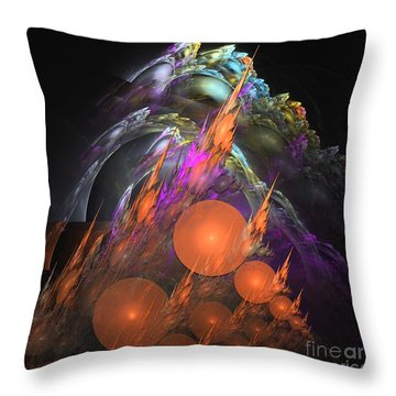 Exuberant - Abstract Art Throw Pillow