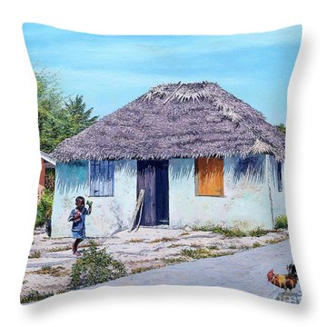 Exuma Thatch Hut Throw Pillow