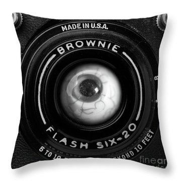Throw Pillow featuring the photograph Eye Am A Camera Surreal Photography by Edward Fielding