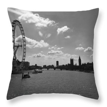 Eye And Parliament Throw Pillow by Maj Seda