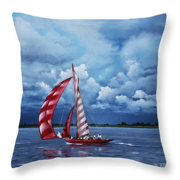 Eye Candy Throw Pillow by Rick McKinney