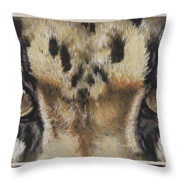 Clouded Leopard Gaze Throw Pillow