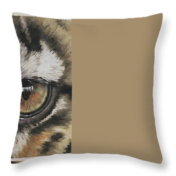 Eye-catching Clouded Leopard Throw Pillow