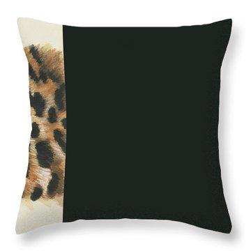 Eye-catching Jaguar Throw Pillow by Barbara Keith