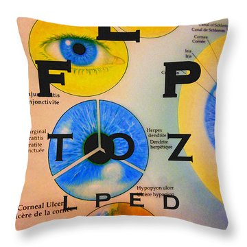 Eye Chart Throw Pillow