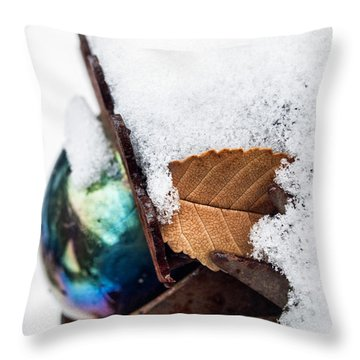 Eye Dk Throw Pillow by Alana Thrower