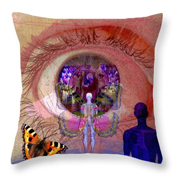 Eye Solar Throw Pillow