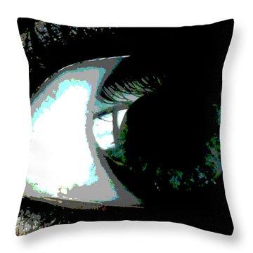 Eye Formation Throw Pillow