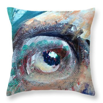 Eye Go Slow Throw Pillow