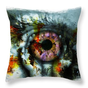 Eye In Hands 001 Throw Pillow