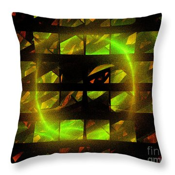 Throw Pillow featuring the digital art Eye In The Window by Victoria Harrington