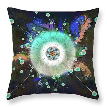 Throw Pillow featuring the digital art Eye Know Dark Two by Iowan Stone-Flowers