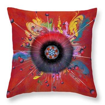 Throw Pillow featuring the digital art Eye Know Dark by Iowan Stone-Flowers