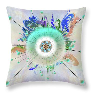 Throw Pillow featuring the digital art Eye Know Light Two by Iowan Stone-Flowers