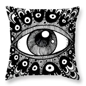Eye Of March Throw Pillow by Nada Meeks