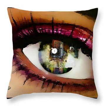 Eye Of The City Throw Pillow