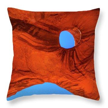 Eye Of The Eagle Throw Pillow