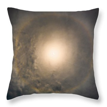 Eye Of The Eclipse Throw Pillow