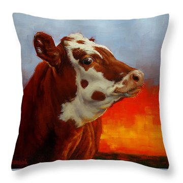 Eye Of The Firestorm Throw Pillow