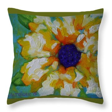 Eye Of The Flower Throw Pillow