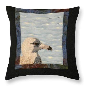 Eye Of The Gull Throw Pillow