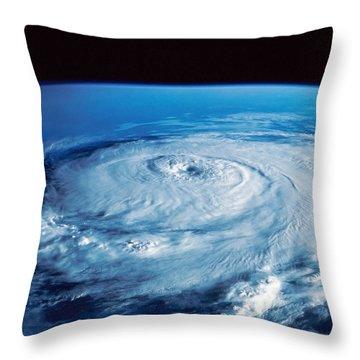Eye Of The Hurricane Throw Pillow by Stocktrek Images
