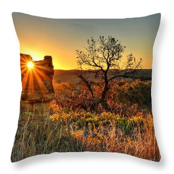 Eye Of The Monolith Throw Pillow