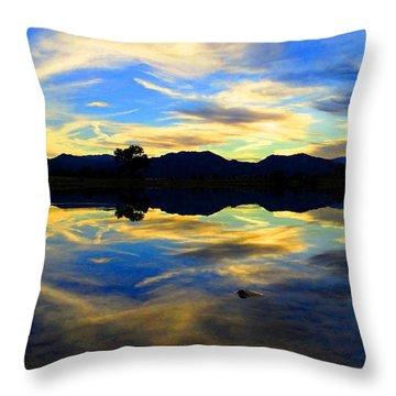 Throw Pillow featuring the photograph Eye Of The Mountain by Eric Dee
