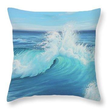 Eye Of The Ocean Throw Pillow by Joe Mandrick