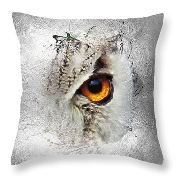 Throw Pillow featuring the photograph Eye Of The Owl 2 by Fran Riley