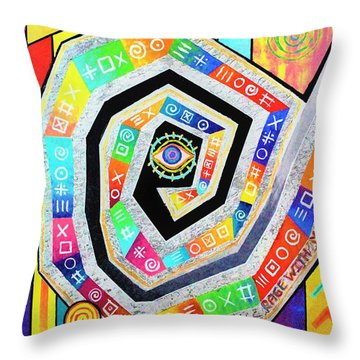 Eye Of The Storm Throw Pillow by Jeremy Aiyadurai