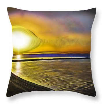 Throw Pillow featuring the photograph Eye Of The Sun by Scott Carruthers