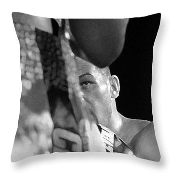Eye Of The Tiger Throw Pillow by David Lee Thompson