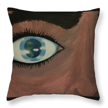 Eye Of The World Throw Pillow by Thomas Blood