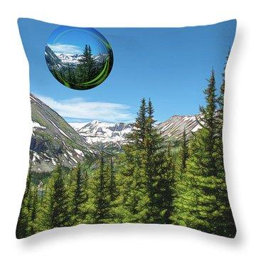 Eye On Summit County Throw Pillow