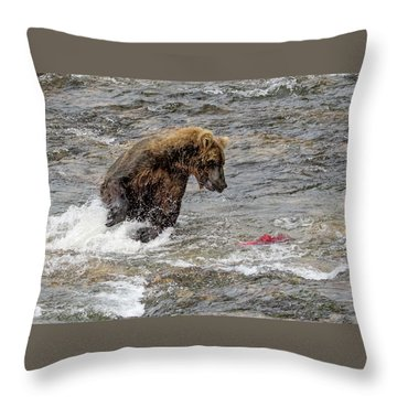 Eye On The Sockeye Throw Pillow
