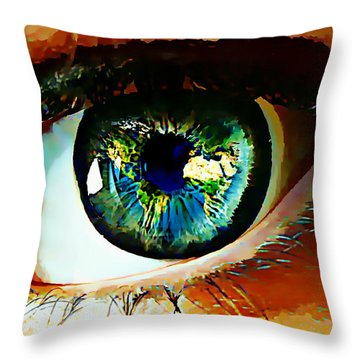 Eye On The World Throw Pillow