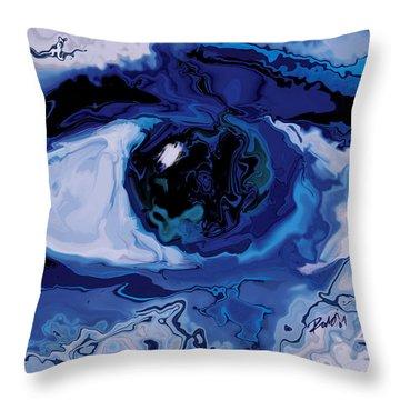 Throw Pillow featuring the digital art Eye by Rabi Khan