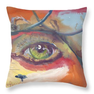 Eye See A Bird Throw Pillow