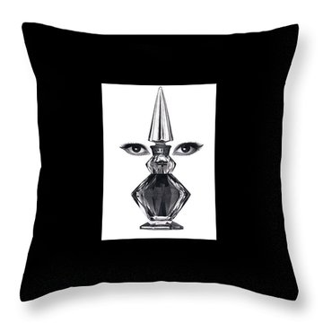 Throw Pillow featuring the digital art Eye See You by ReInVintaged