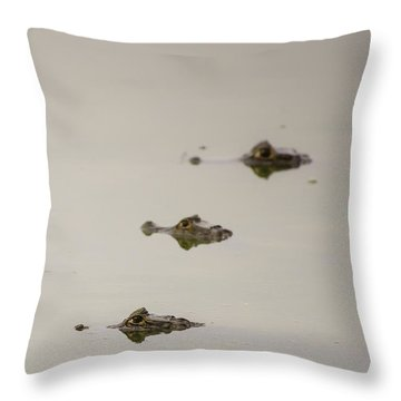 Throw Pillow featuring the photograph Eye Spy by Alex Lapidus