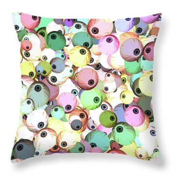 Throw Pillow featuring the digital art Eyeballs by Methune Hively