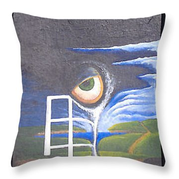 Eyefence Throw Pillow by Steve  Hester