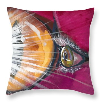Eyelights Throw Pillow
