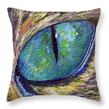 Eyenstein Throw Pillow