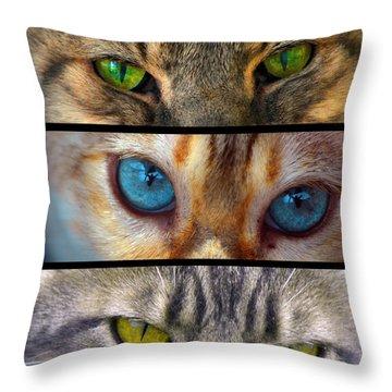 Eyes 1 Throw Pillow